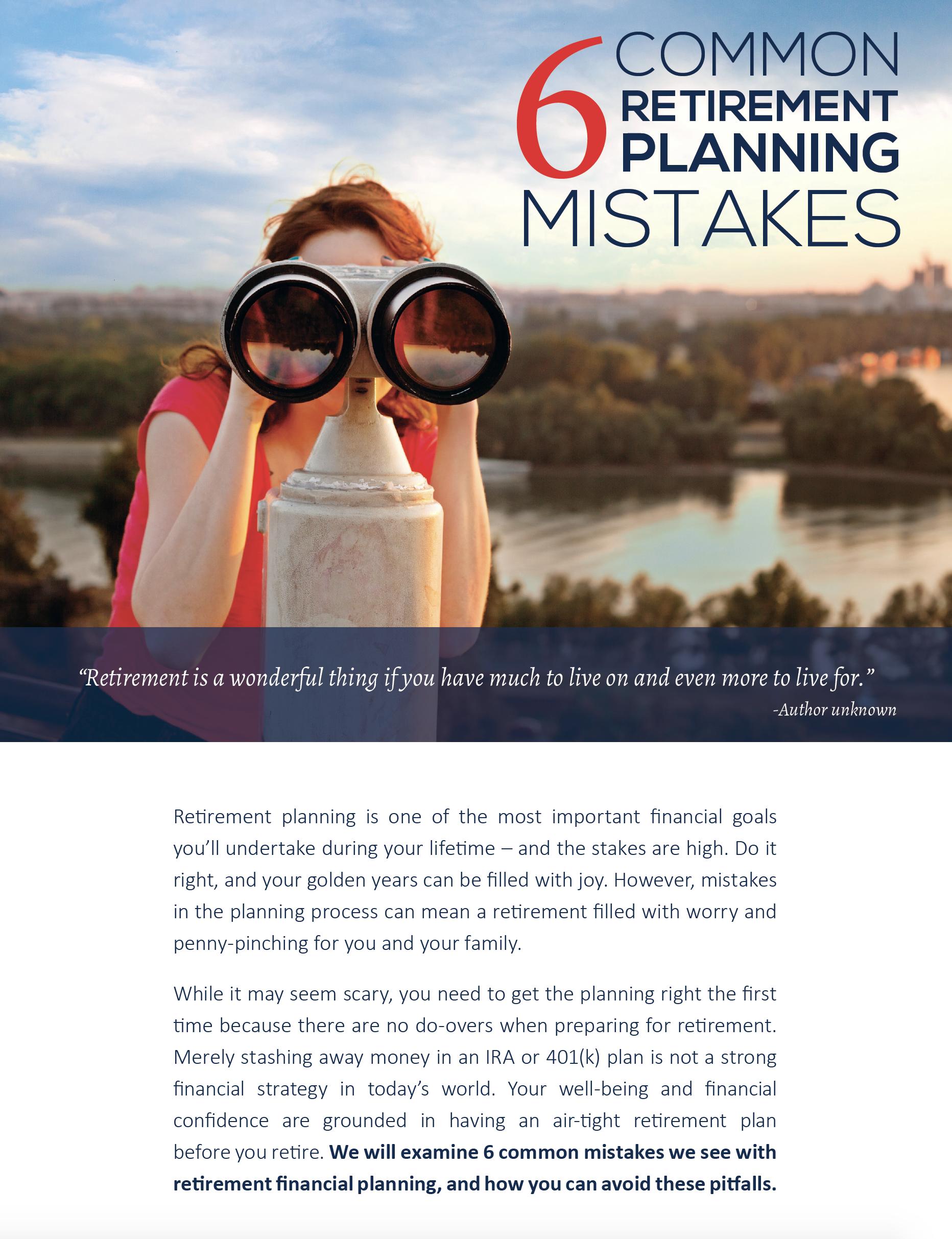 6 Common Retirement Planning Mistakes